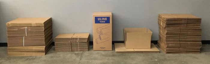 New boxes, mailing tubes, and corrugated sheets