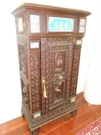 19th Century Cabinet, Carved by John Lord Hayes of Cambridge, MA