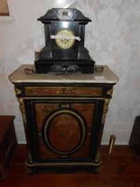Marble top Boulle Cabinet