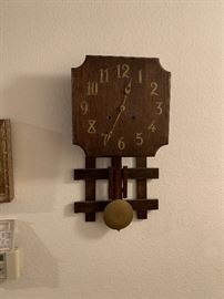 ARTS AND CRAFT CLOCK EARLY 1900S MADE LOCALY