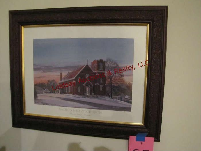 Sacred Heart Church in Bonner Springs print 22x18 by Ernst Ulmer signed & numbered 11/750 https://lindsayauctions.hibid.com/lot/47479014/sacred-heart-church-in-bonner-springs-print-22x18?q=25