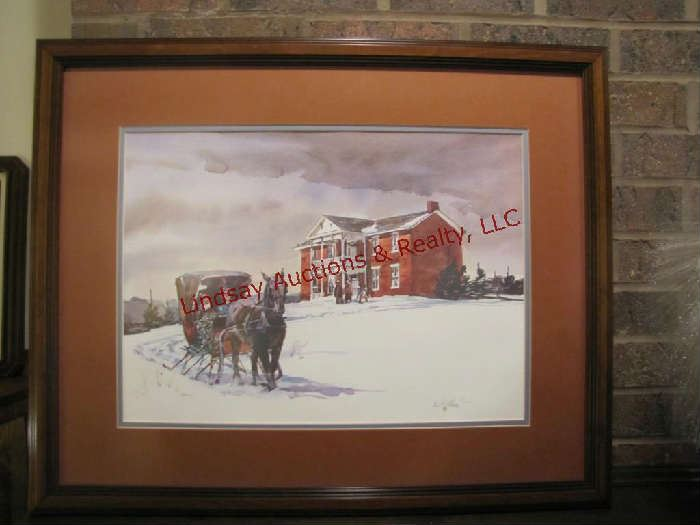 Sleigh at Grinter House print 28x22.5 by Ernst Ulmer signed & numbered 74/500