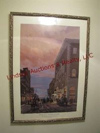 Framed Folly Theater print by Ernst Ulmer signed/numbered 172/500