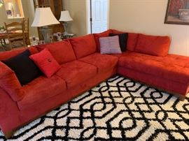 Red sectional couch