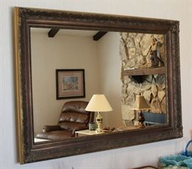 Large Wall Mirror with Ornate Frame