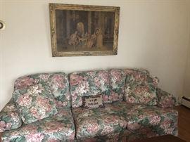 Sofa and  Vintage Print