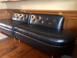 Retro Naugahyde Couch
