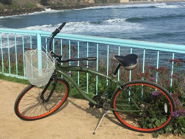 Cool bike with a basket