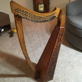 22 string Celtic harp!  Very cool piece