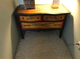 Custom painted antique chest of drawers