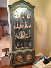 Curio cabinet painted