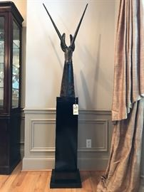 Antelope statuary with pedestal stand, now $500!