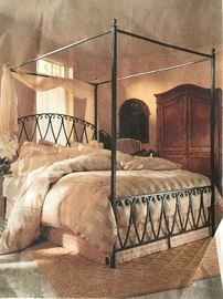 This is a magazine image of the KING SIZE BED FRAME. The frame is disassembled for easy move. Now just $400!