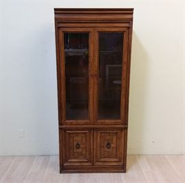 EB02 3  Vintage Wood Display Cabinet