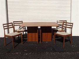 EB501 MidCentury Teak Wood Dining Set