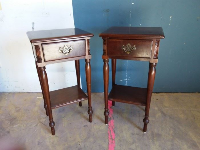 EB963  Solid Genuine Mahogany Side Tables