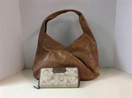 EB201G Hobo International Handbag and Coach Wallet