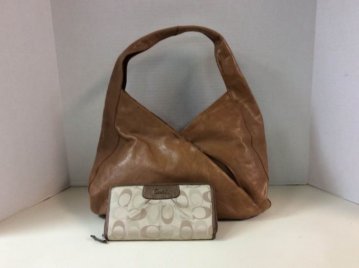 EB201G Hobo International Handbag and Coach Wallet