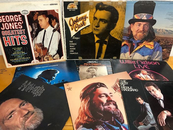Vintage Records including Willie, Merle, George Jones, Johnny Cash & many more!