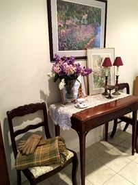 We Also Have A Flip To Dining Table w/3 Leaves, 4/Chairs, and Table Pads!...