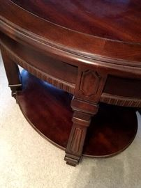 Also...Oval Side Tables...