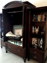 In The Living Room We Have A Pretty Armoire Set...Ready For A TV, Or Shelves, Or Even A Wardrobe Bar!...