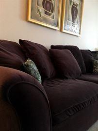 A Deep Plum Colored Sofa...