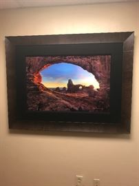 Stone Temple by photographer Peter Lik of Australia. Numbered 912/950. Measures at 38x25 excluding the frame.