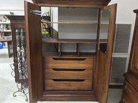 Armoire Opened - shelves and drawers