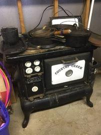 cast iron electric stove