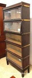 "ANTIQUE Mahogany 5 Stack Barrister Bookcase by ""Globe Wernicke""  Located Inside – Auction Estimate $400-$800"