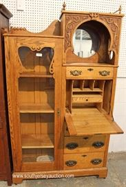 ANTIQUE Oak Carved Secretary Bookcase (Side by Side)  Located Inside – Auction Estimate $300-$600