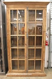 Contemporary Restoration Hardware Style 20 Pane 2 Door Bookcase  Located Inside – Auction Estimate $400-$800