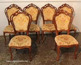 9 Piece Italian Style Burl Mahogany Lacquer Inlaid and Banded Dining Room Set – table has 2 leaves  Located Inside – Auction Estimate $500-$1000