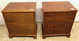 "PAIR of Mahogany 4 Drawer Bachelor Chest by ""Biggs Furniture""  Located Inside – Auction Estimate $300-$600"