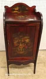 ANTIQUE Mahogany Vernis Martin Paint Decorated Style Music Cabinet  Located Inside – Auction Estimate $200-$400