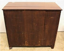 ANTIQUE Burl Mahogany 3 Drawer Chest  Located Inside – Auction Estimate $200-$400