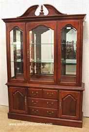 "8 Piece Cherry Queen Anne Dining Room Set by ""Thomasville Furniture, Impressions Collection""  Located Inside – Auction Estimate $300-$600"