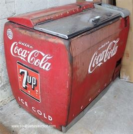VINTAGE Coca Cola Chest Cooler with Original Paint  Located Dock – Auction Estimate $200-$400     VINTAGE Coca Cola Chest Cooler with Original Paint  Located Dock – Auction Estimate $200-$400