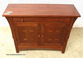 "SOLID Cherry One Drawer 2 Door Server in the Arts and Craft Style by ""Stickley Furniture""  Located Inside – Auction Estimate $400-$800"