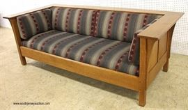Mission Oak Even Arm Upholstered Sofa with Panel Sides and Back  Located Inside – Auction Estimate $1000-$3000