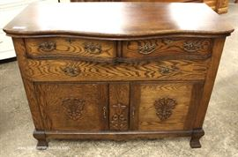ANTIQUE Oak Buffet  Located Inside – Auction Estimate $100-$300