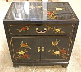 Asian Decorated Side Cabinet  Located Inside – Auction Estimate $100-$200