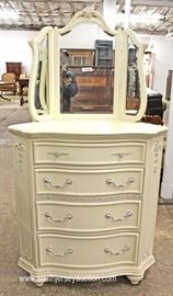 Selection of Contemporary White Decorator Dresser and CORNER Dresser with Mirrors  Located Inside – Auction Estimate $200-$400 each