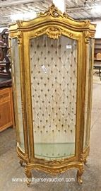 French Style Button Tufted Back Curio  Located Inside – Auction Estimate $100-$300