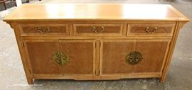 "SOLID Mahogany Asian Inspired Buffet by ""Hekman Furniture""  Located Inside – Auction Estimate $200-$400"