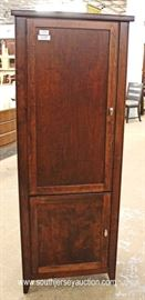 NEW Mahogany 2 Door Chimney Style Cupboard  Located Inside – Auction Estimate $100-$200