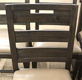 NEW Country Style 7 Piece Plank Top Dining Room Table and 6 Chairs  Located Inside – Auction Estimate $400-$800