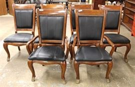 Contemporary 7 Piece Burl Mahogany and Banded Dining Room Table with 6 Chairs and 2 Leaves  Located Inside – Auction Estimate $400-$800