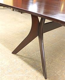 NEW Modern Design SOLID Mahogany Dining Room Table  Located Inside – Auction Estimate $100-$200